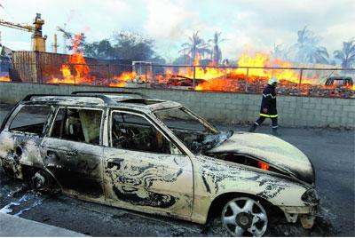 Incendie criminel 300 000 euros de pr judice saint paul for Emprunter 300 000 euros