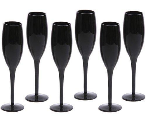 flute a champagne noire