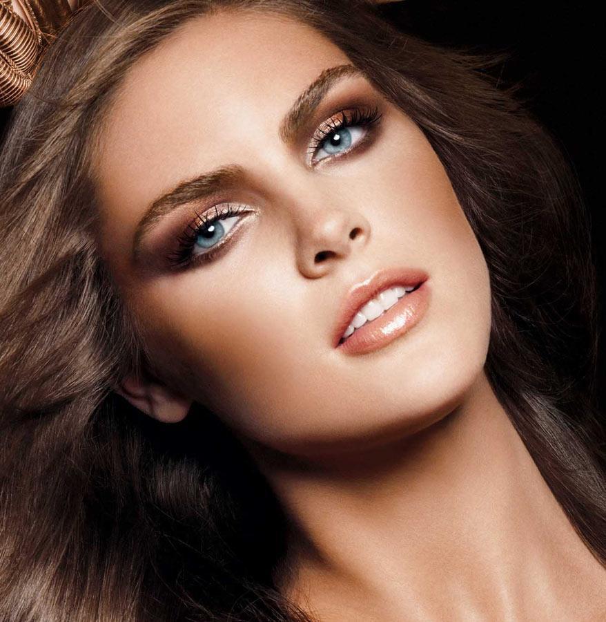 Теплых тонов макияж фото