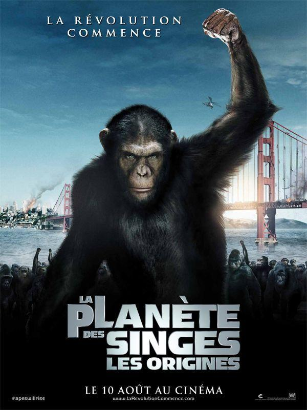 La Planète des singes : les origines - cinema reunion