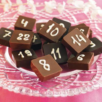 Compte-à-rebours calendrier de l'Avent en chocolat.